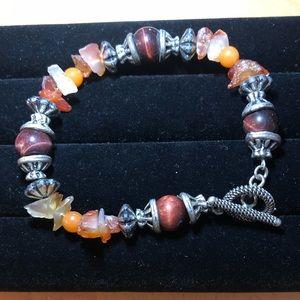 4 for $20 Silver Toned Handmade stone bracelet.